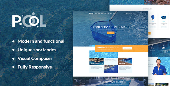Pool Maintenance Services WordPress Theme - Business Corporate