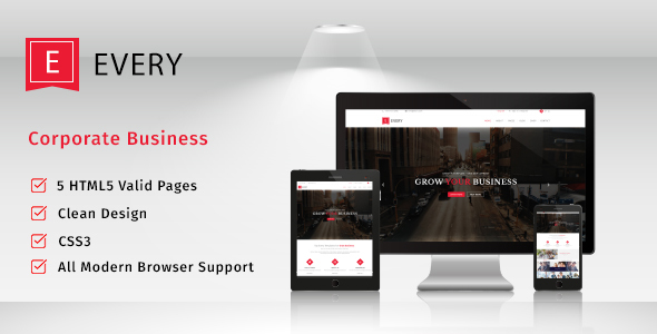 Every – Corporate Responsive HTML Template