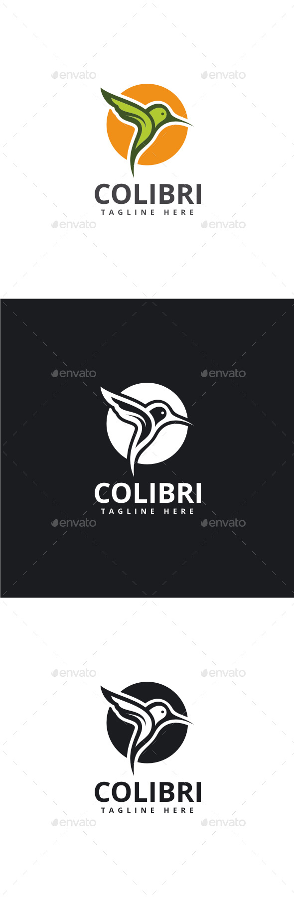 Colibri Logo - Animals Logo Templates