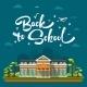 Modern School Building - GraphicRiver Item for Sale