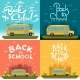 School Bus on Landscape - GraphicRiver Item for Sale