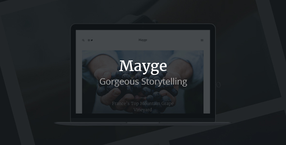 Mayge – A Theme for Gorgeous Storytelling