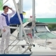 The Guy Stand At The Yacht - VideoHive Item for Sale