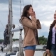 Girls Wearing Glasses And a Hat On a Yacht - VideoHive Item for Sale