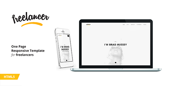 Freelancer Resume – One Page Portfolio