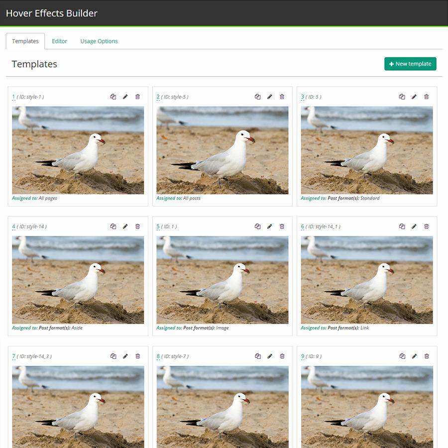 Hover Effects Builder - WordPress Plugin