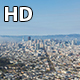 Downtown San Francisco View From Twin Peaks with Fog Wide - VideoHive Item for Sale