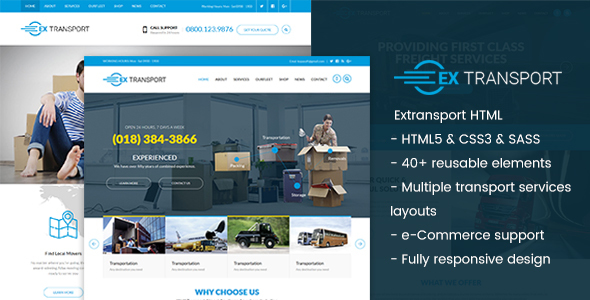 Extransport – Logistic HTML template