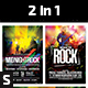 Midnight Rock and Born to Rock Flyers - GraphicRiver Item for Sale