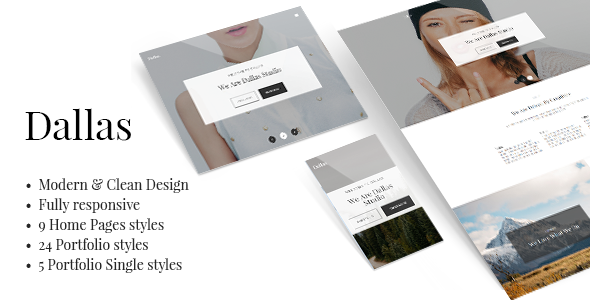 Dallas – Minimal Portfolio & Business Theme