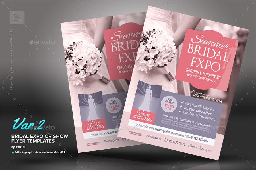 Bridal Expo Or Show Flyer Templates By Kinzi21 Graphicriver