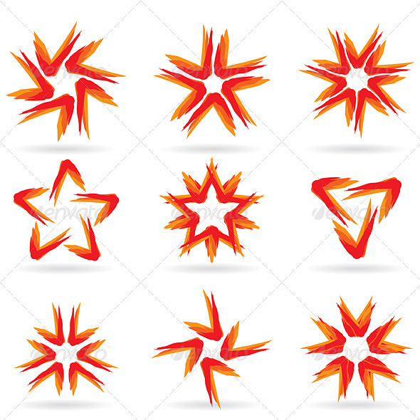 Set of Different Stars Icons #15 - Characters Vectors