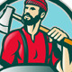 Lumberjack Woodcutter Forester With Axe - GraphicRiver Item for Sale