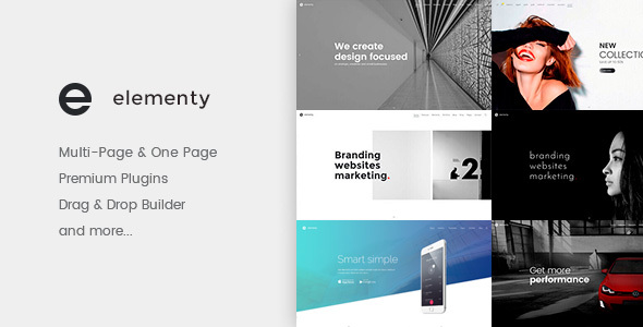 Elementy – Multipurpose One & Multi Page WP Theme