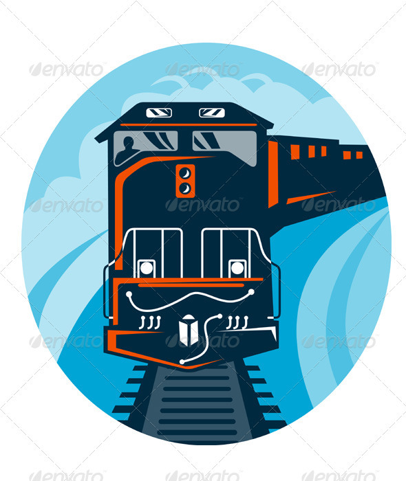 Diesel Train Retro  - Travel Conceptual