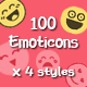 100 Emoticons Icons - GraphicRiver Item for Sale