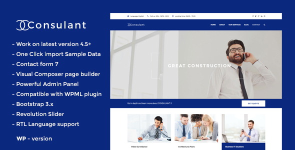 Consulant - Corporate & Business WordPress Theme - Business Corporate