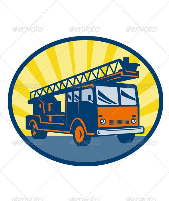 Fire Truck Engine Appliance Retro - Travel Conceptual