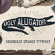 "Grunge Typeface ""Ugly Alligator"" - GraphicRiver Item for Sale"
