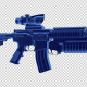 Assault Rifle - 3D Outline - VideoHive Item for Sale