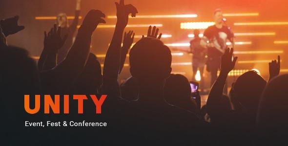 Unity – Event, Fest & Conference PSD Template - Events Entertainment