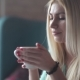 Young Woman Drinking Coffee And Enjoying. - VideoHive Item for Sale