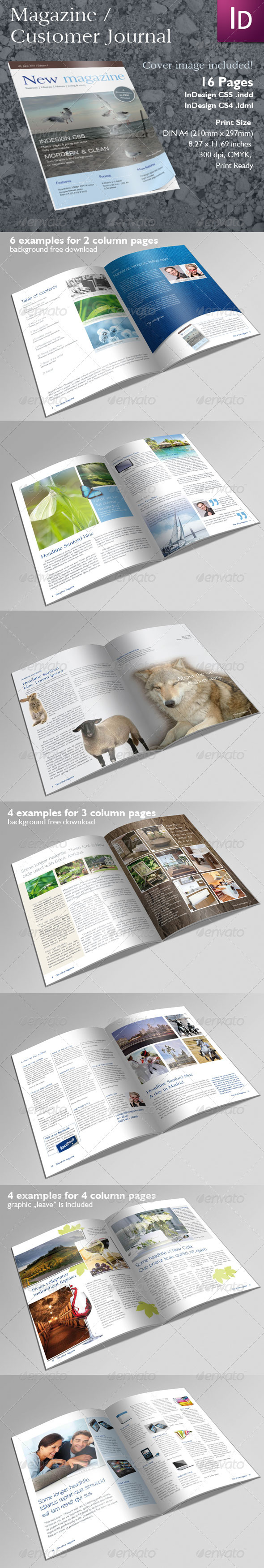 Magazine or Client Journal - Magazines Print Templates