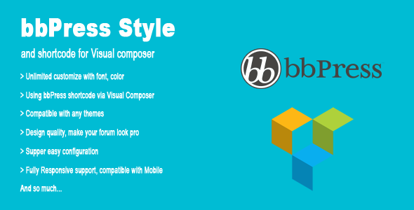 bbPress Style and shortcode for Visual composer - CodeCanyon Item for Sale