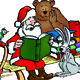 Santa Claus with animals and with books - GraphicRiver Item for Sale