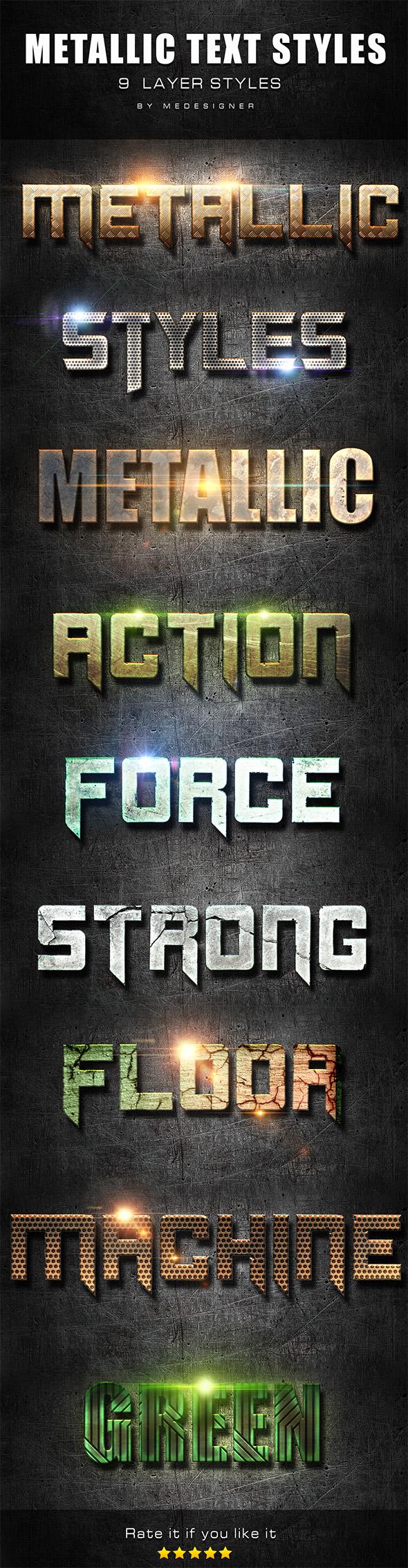 Metallic Text Styles V.4 - Text Effects Styles