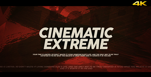 Cinematic Extreme Trailer/Opener