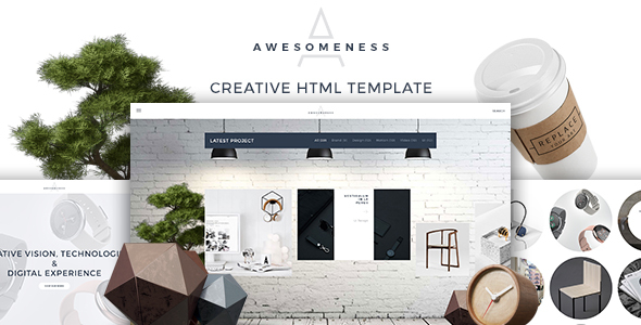 Awesomeness – Agency & Portfolio responsvie HTML Template