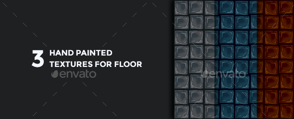 3 hand-painted floor textures - 3DOcean Item for Sale