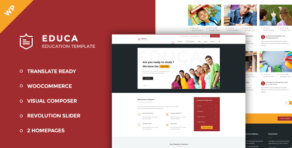 Educa - Education, Courses and Events WordPress Theme