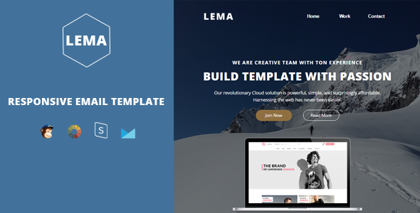 Lema- Responsive Multipurpose Email + StampReady Builder