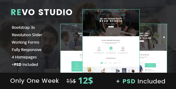 Revo Studio - Business & Agency Landing Page