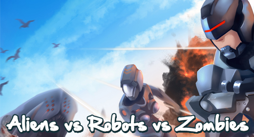 Aliens vs Robots vs Zombies