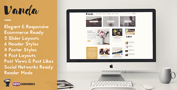Vanda – Creative Magazine & Shop WordPress Theme