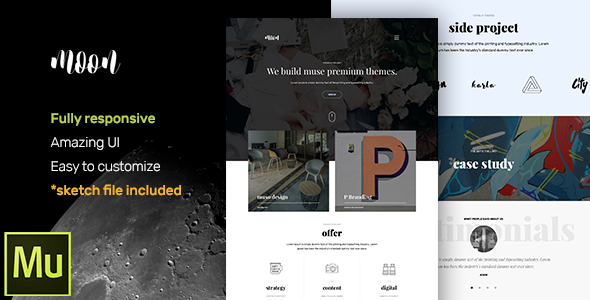 moon – Responsive Portfolio Muse Template