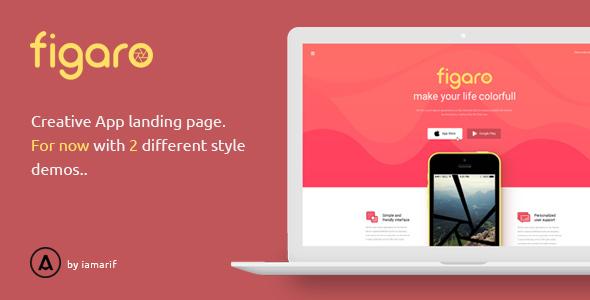 Figaro – App Landing Page