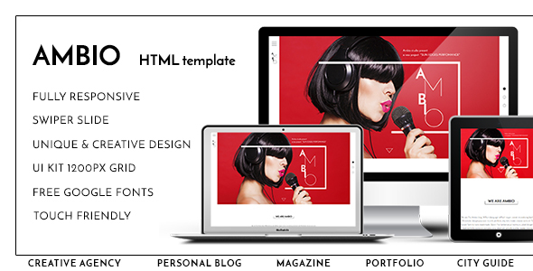 Ambio — Unique Personal Blog | Magazine Responsive HTML Template