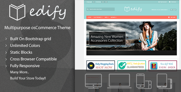 Image of Edify - Responsive osCommerce Theme