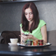 Beautiful Girl Using Smartphone in the Apartment - VideoHive Item for Sale