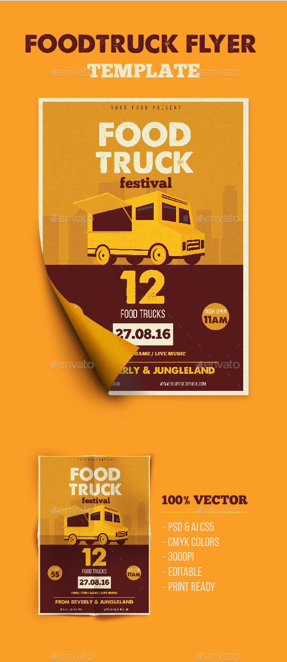 Food Truck Flyer By Ming Ming Graphicriver