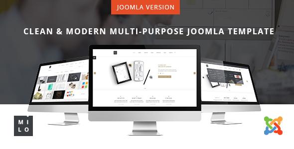 Milo - Clean & Modern Multi-Purpose Joomla Template