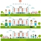 Medical Backgrounds with Hospital Building and Doctors - GraphicRiver Item for Sale