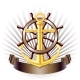 Nautical Emblem With Golden Anchor, Vector - GraphicRiver Item for Sale
