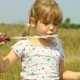 Girl Playing With Soap Bubbles - VideoHive Item for Sale