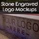 Stone Engraved Logo Mockups