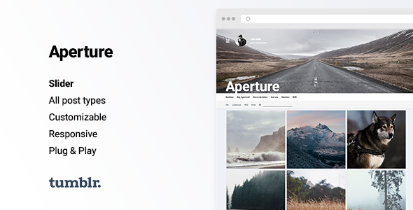 Aperture - Responsive Photography Tumblr Theme